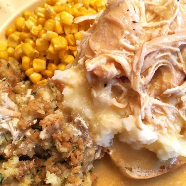 Slow Cooker Chicken and Gravy for mashed potatoes