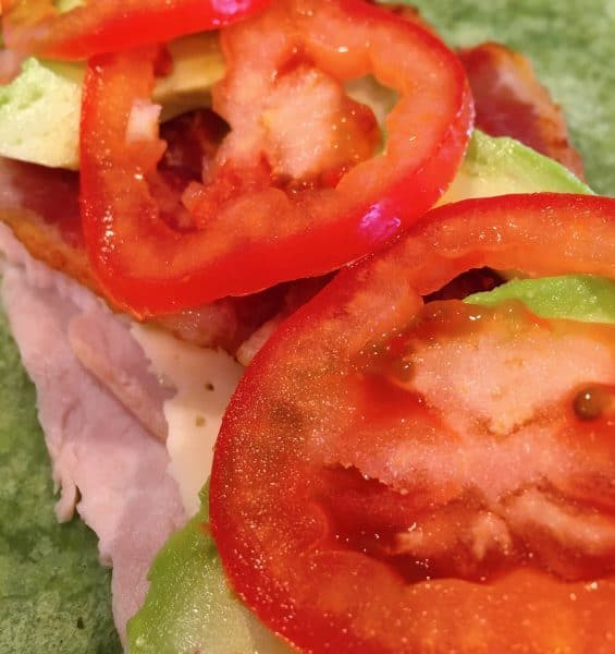 Addition of Bacon and Tomato to California Turkey Club