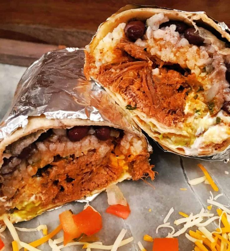 A Chipotle Mexican Grill Copy Cat Beef Barbacoa that create an amazingly delicious burrito!