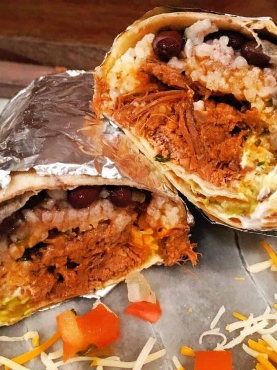 A beef Barbacoa burrito