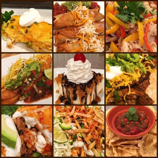 A collage of various mexican dishes