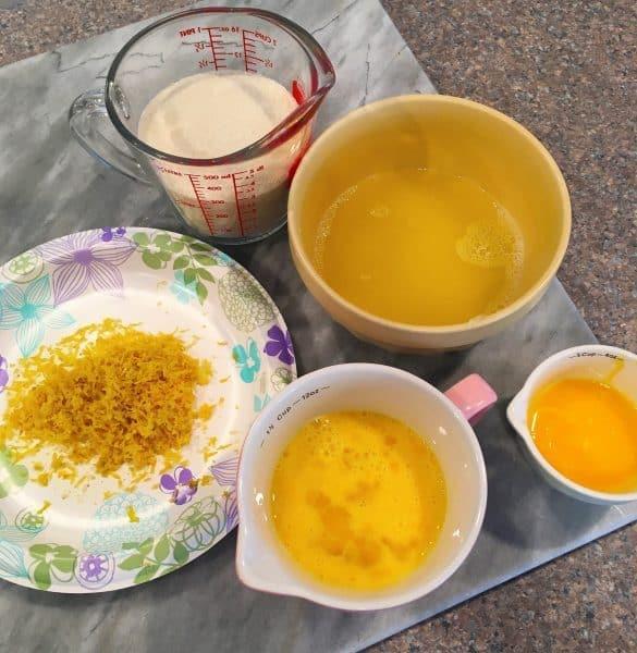ingredients for microwave lemon curd