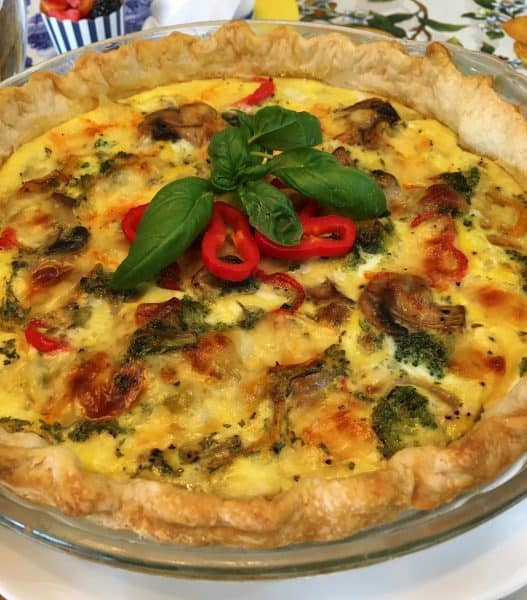 Vegetable Loaded Quiche