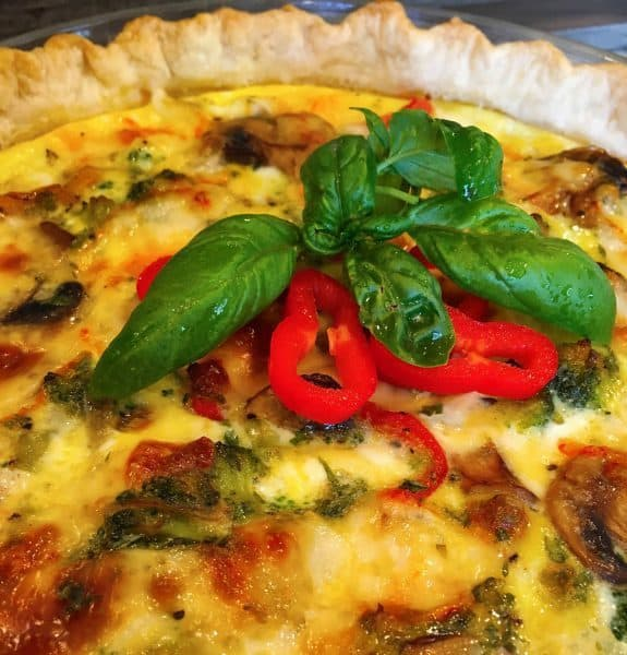 Loaded Vegetable Quiche