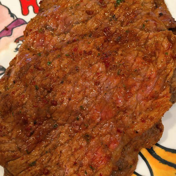 carne asada after grilling