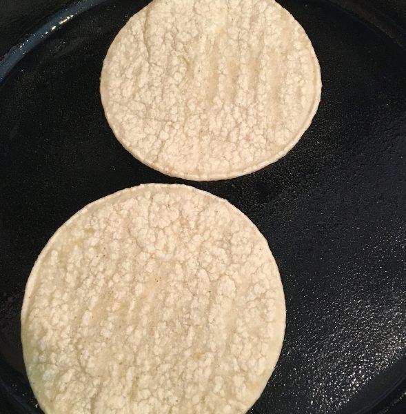 mini taco shells on the grill