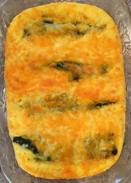 Chili Relleno Casserole fresh out of the oven
