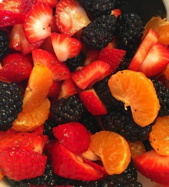 fresh fruit with poppy seed dressing