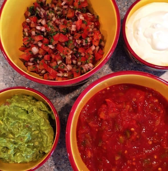 Toppings bar for Nachos.