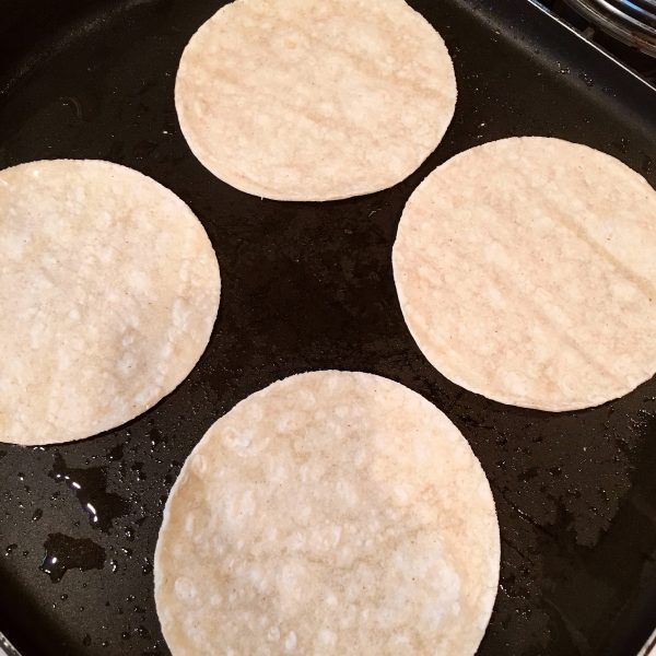 corn tortillas on the grill