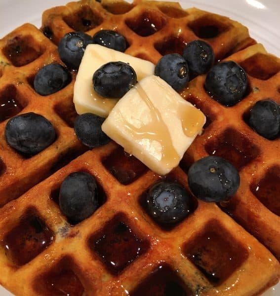 Blueberry Banana Belgian Waffles Norine S Nest