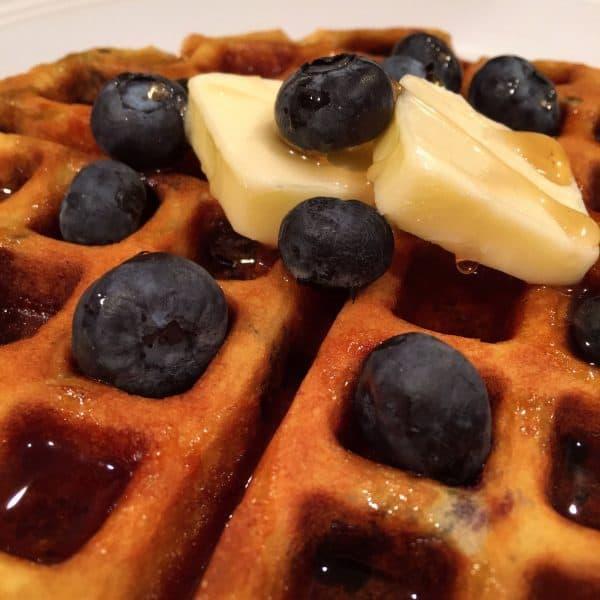 Blueberry Banana Waffles
