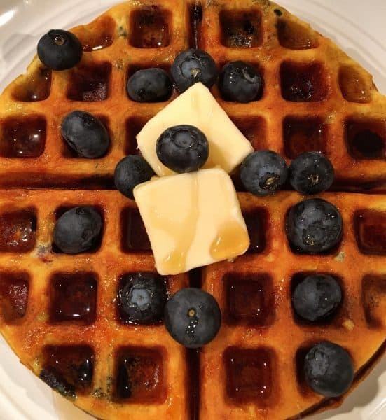 blue berry belgian waffles
