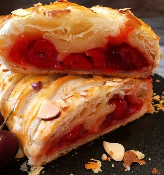 slices of Cherry Lemon Danish