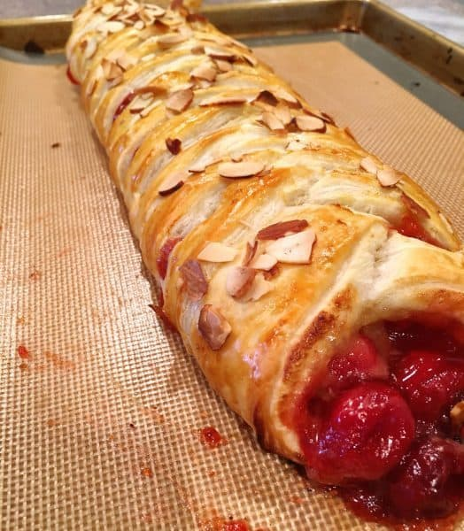 Baked Cherry Lemon Curd Danish