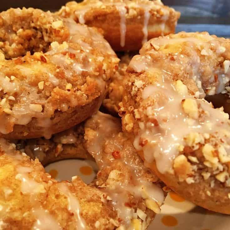 Baked Crumb Donuts are like hand held Coffee Cakes with holes! So moist and tender and all that yummy crumb topping!