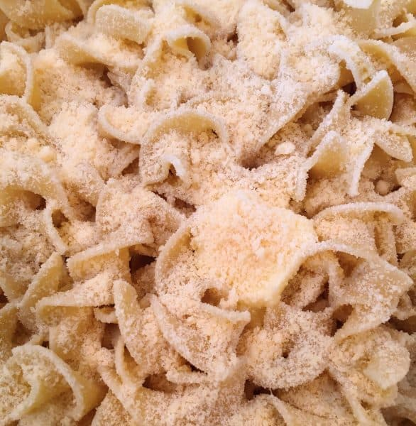 Egg Noodles with butter and Parmesan Cheese