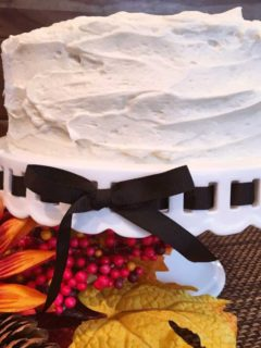 Pumpkin cake with cream cheese frosting