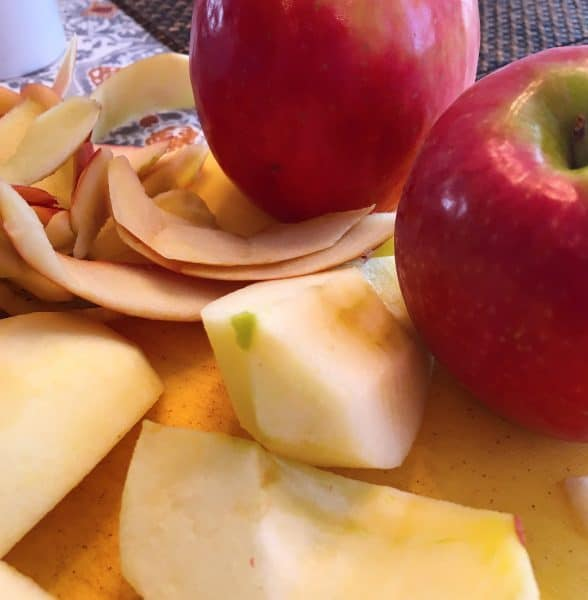 Apples peeled and cored