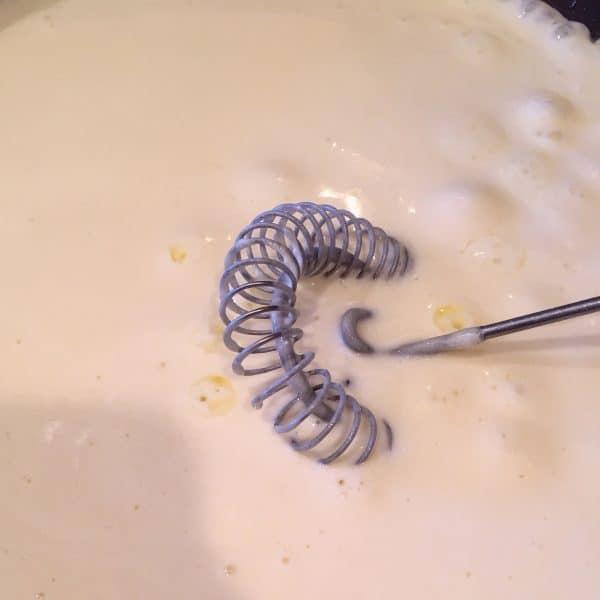 Creamy Alfredo Sauce in pan