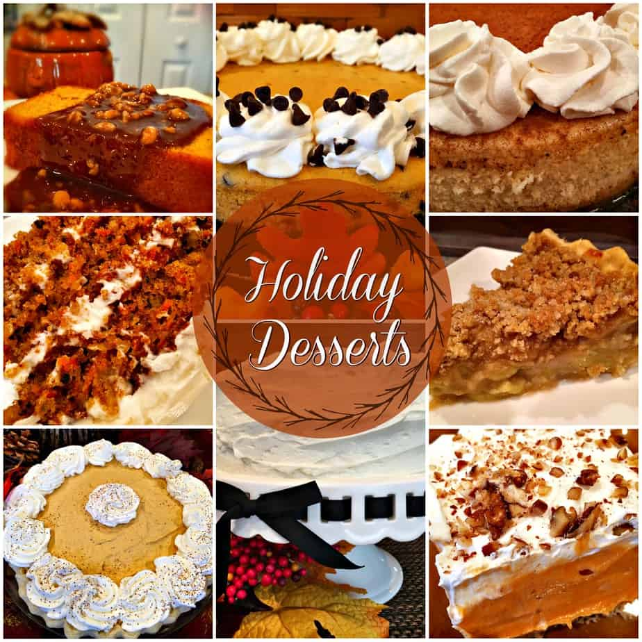 A variety of holiday desserts