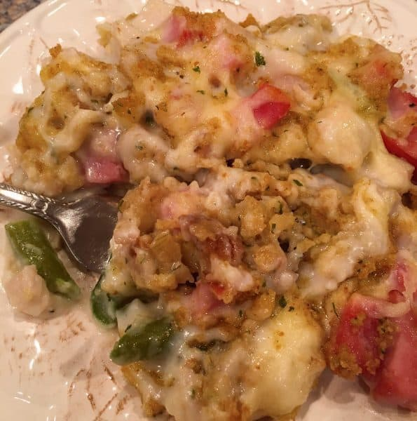 delicious plate full of Leftover Thanksgiving Casserole