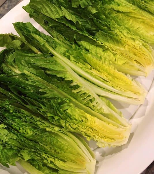 Romaine Lettuce small heads cut in half
