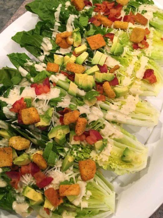 Cesar salad wedges