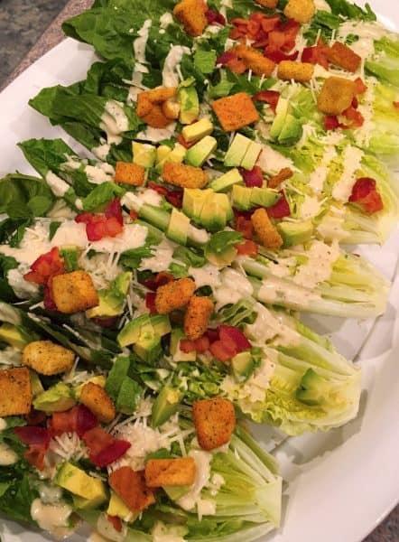 Caesar Salad Wedges