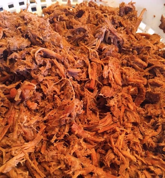 Shredded beef for tamale filling