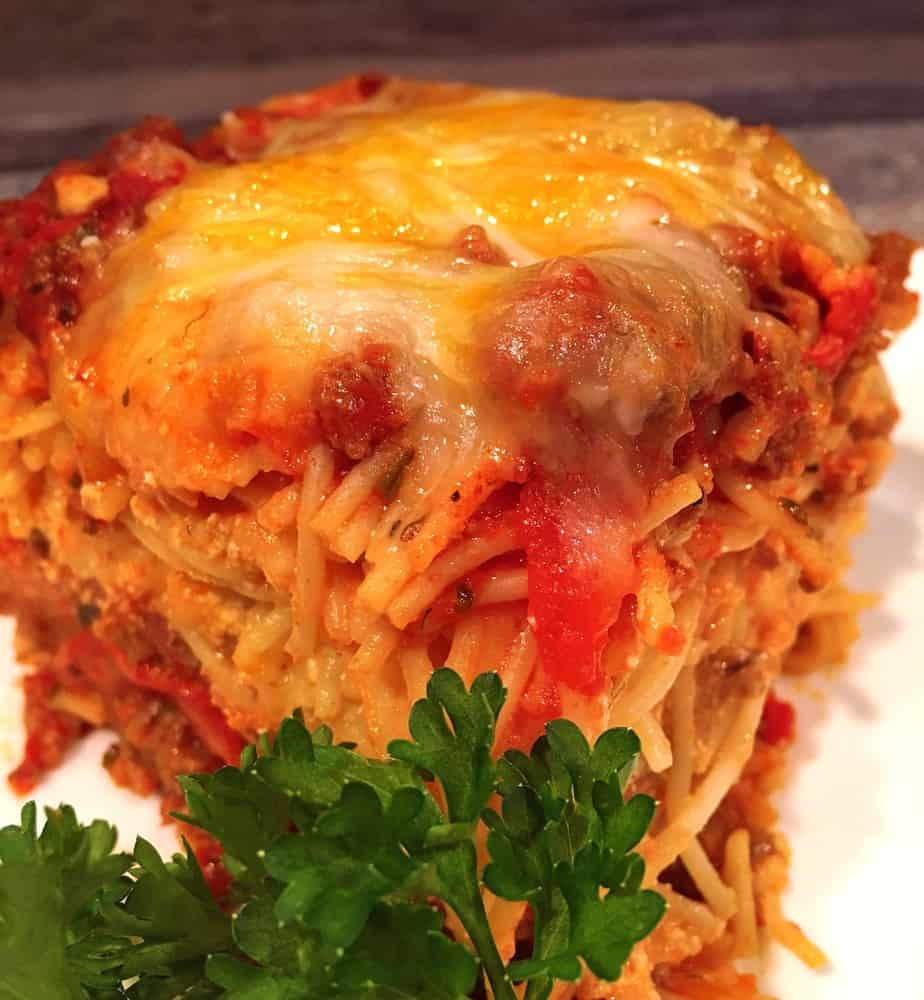 Meat Lovers Baked Spaghetti