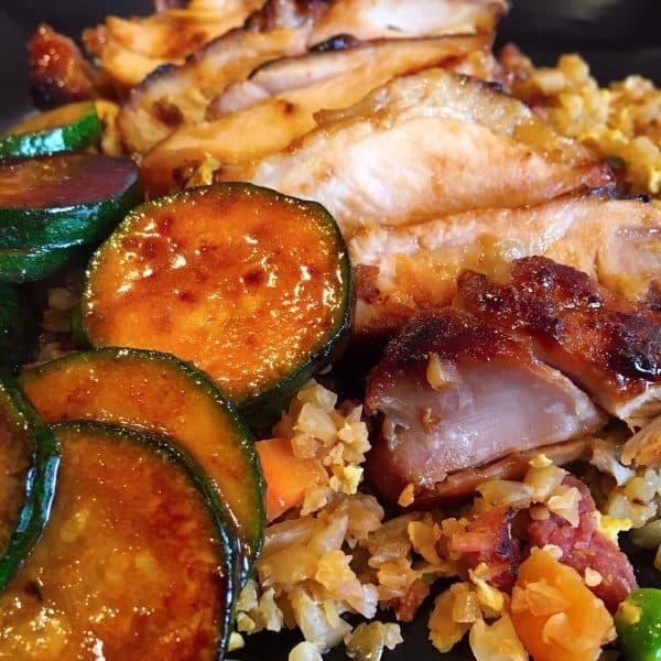 Cauliflower Fried Rice with Teriyaki Chicken
