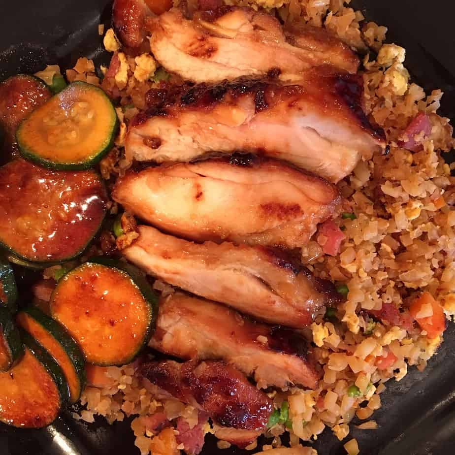 Chicken Teriyaki with Fried Rice Cauliflower