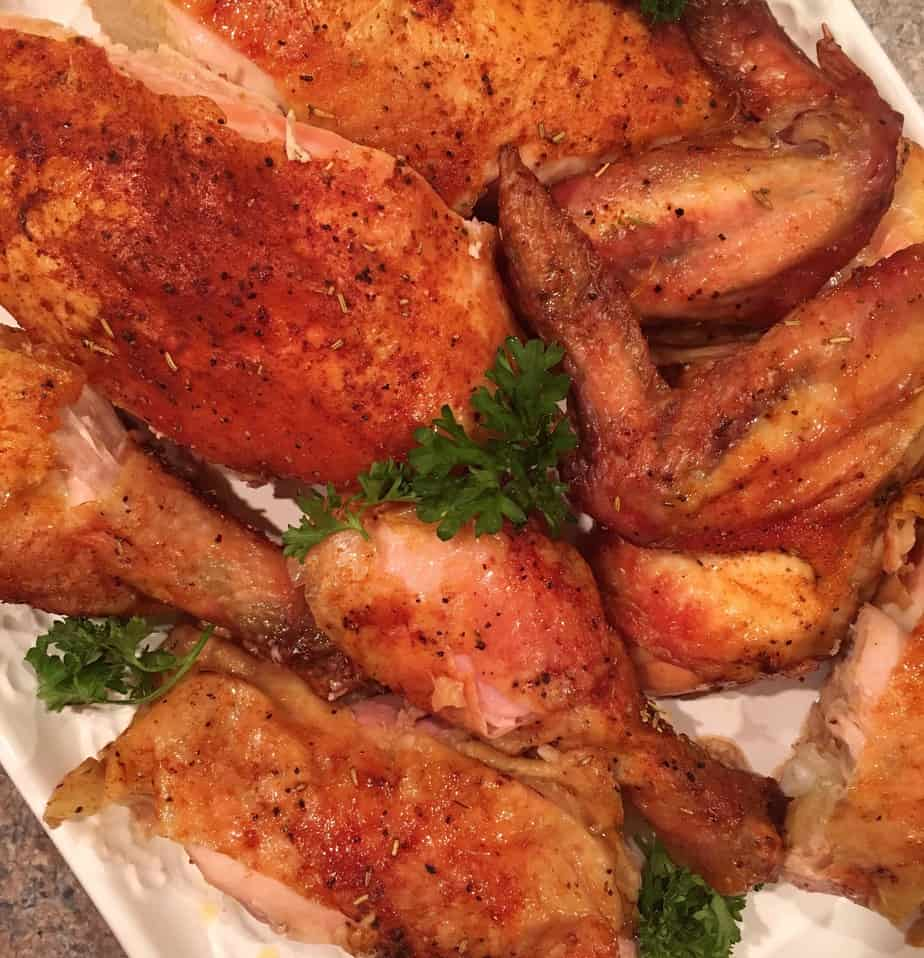 Roasted Rotisserie Style Sticky Chicken | Norine's Nest