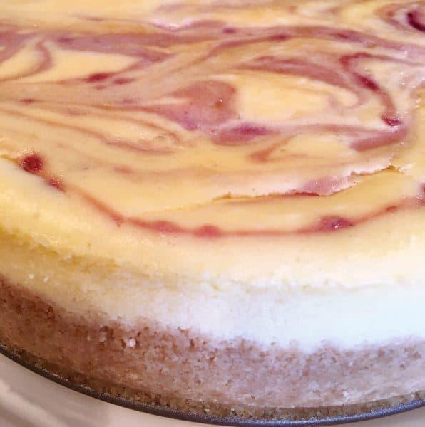 Baked Coconut Raspberry Cheesecake