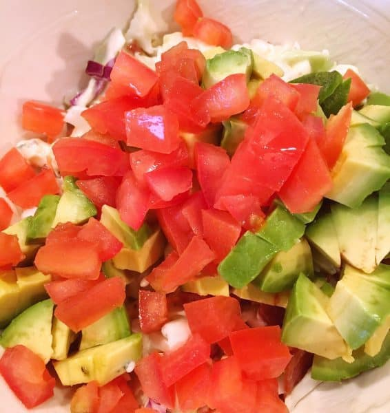 Diced up Tomato and Avocado