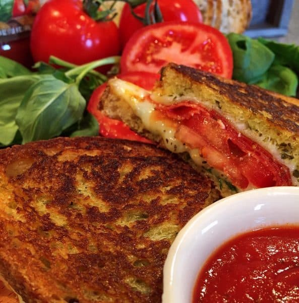 Italian Grilled Cheese with Marinara Sauce.