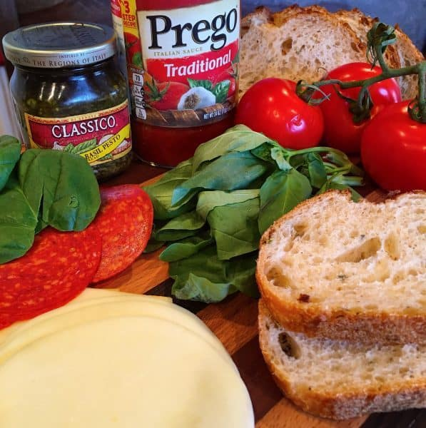 Ingredients for Italian Grilled Cheese