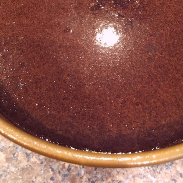 Dark Chocolate Cake batter in pans