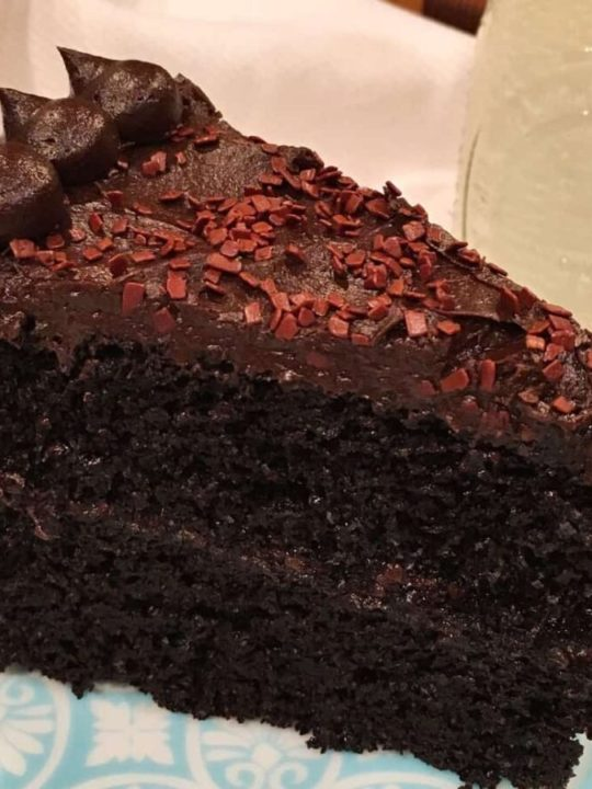 Slice of the Best Dark Chocolate Cake