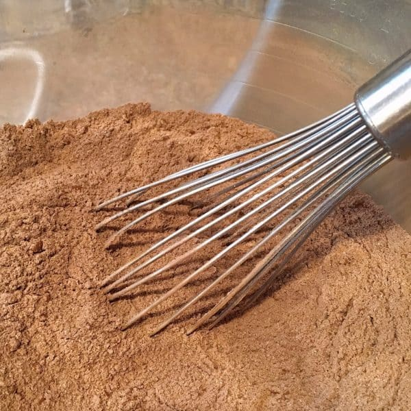 Dry ingredients whisked together