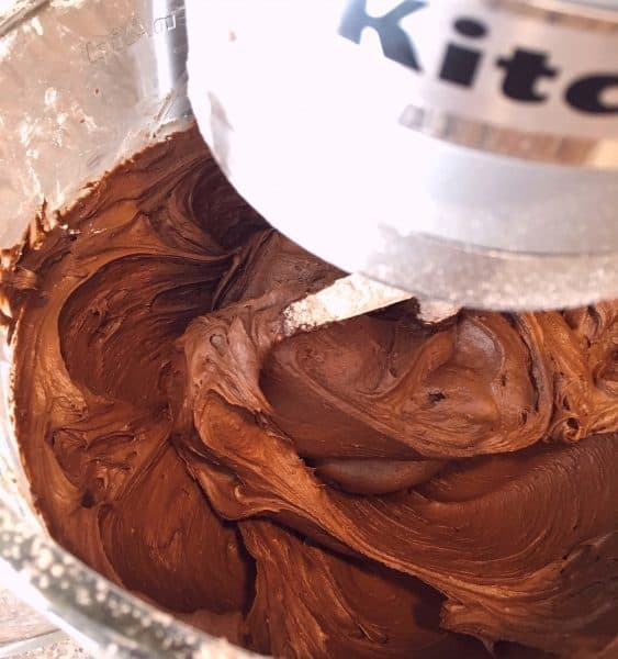 Bowl full of Chocolate Buttercream frosting