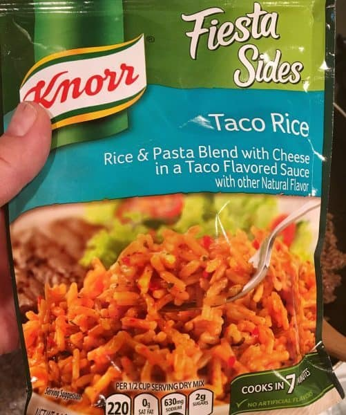 Knorr Taco Rice package