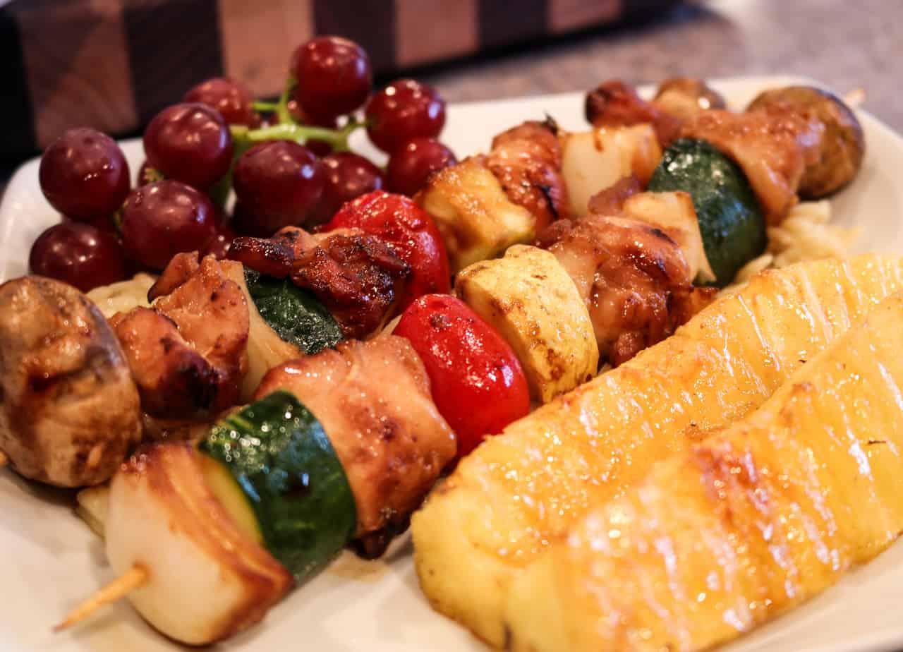 Teriyaki and Vegetable Kabob's