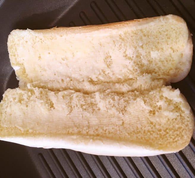 Buttered Hot dog buns