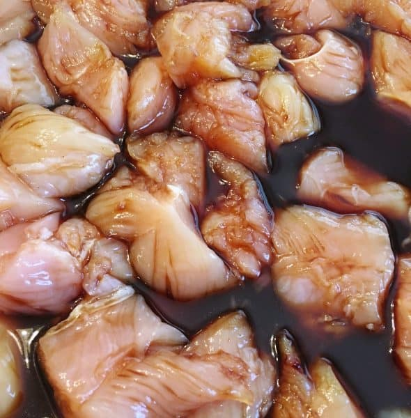 Teriyaki Chicken Marinating