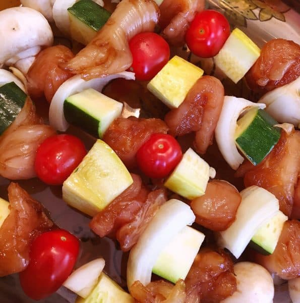 Prepared Chicken Kabobs