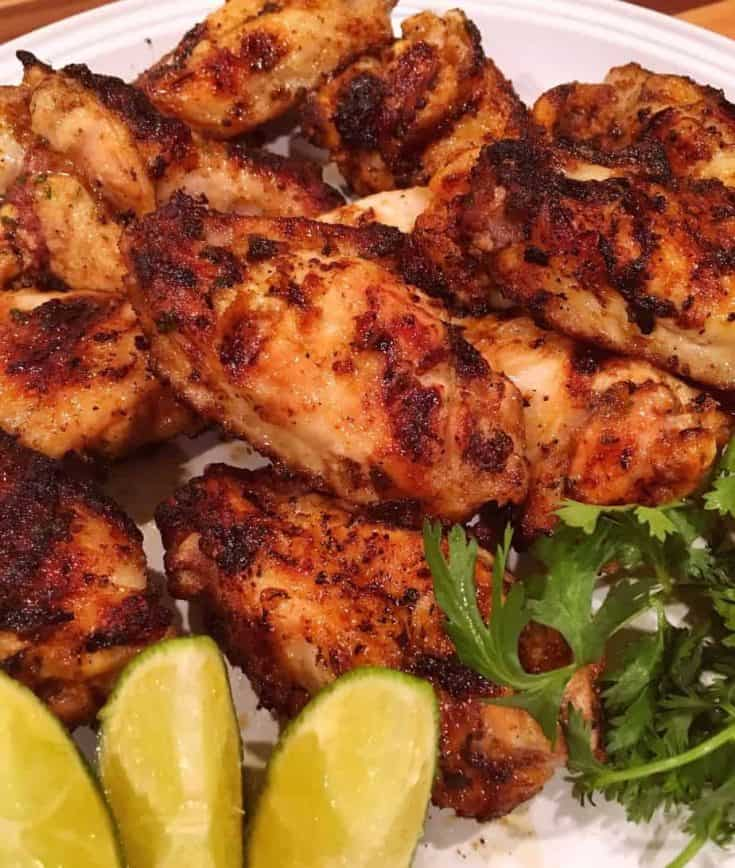 Grilled Citrus Spiced Chicken Wings