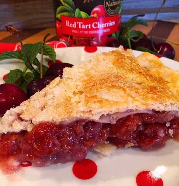 Slice of Traditional Cherry Pie