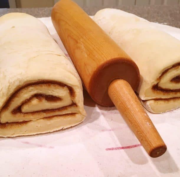 Cinnamon Rolls prepped for oven